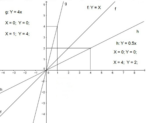 Linear functions with a different slope